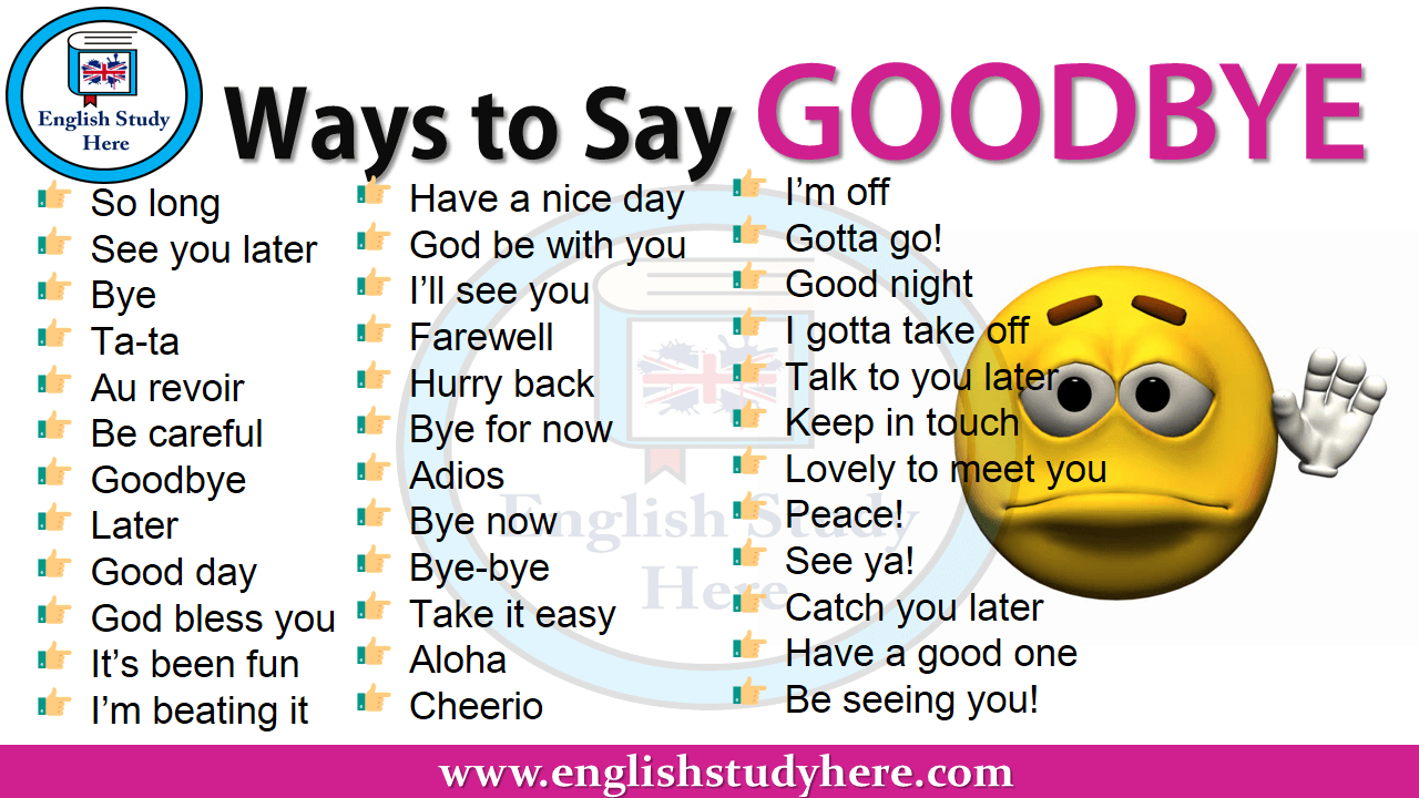 Ways to Say GOODBYE in English