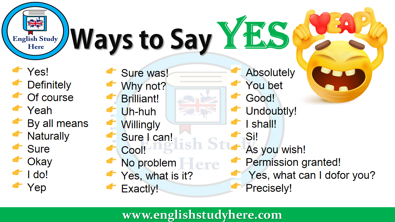 Ways to Say YES in english