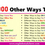 1000 Other Ways To Say