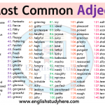 150 Most Common Adjectives