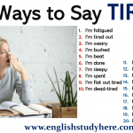 20 Ways to Say TIRED in Speaking