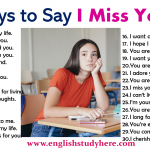 30 Ways to Say I Miss You