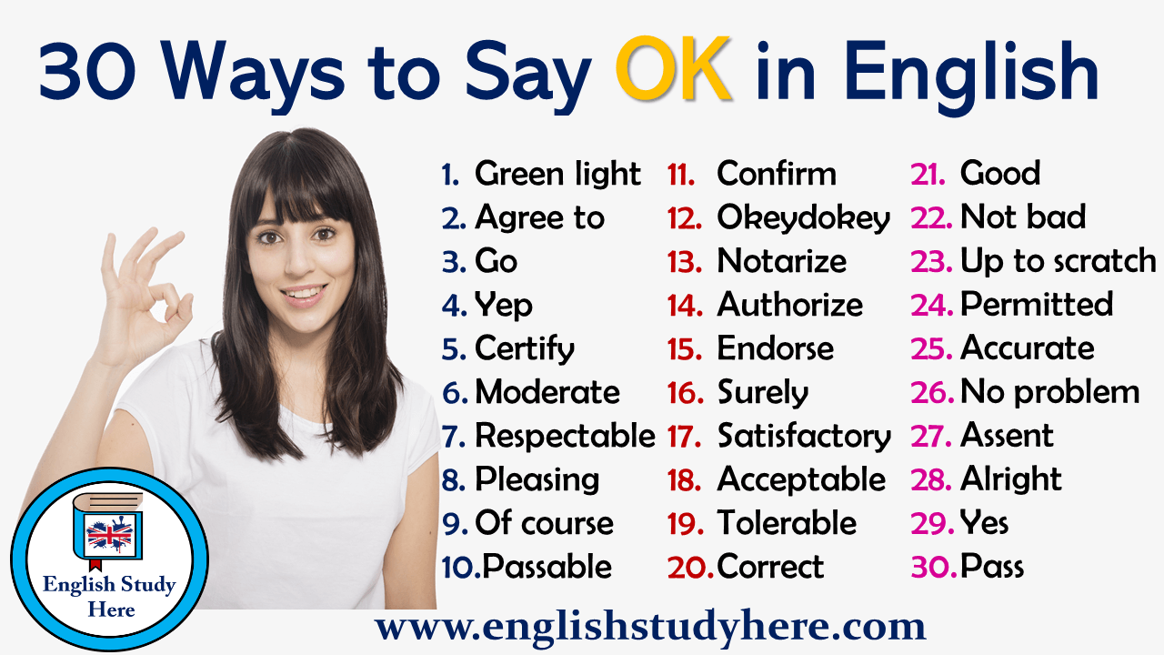 30 Ways to Say OK in English