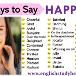 35 Ways to Say HAPPY in English