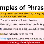 5 Examples of Phrases
