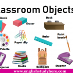 Classroom Objects Names