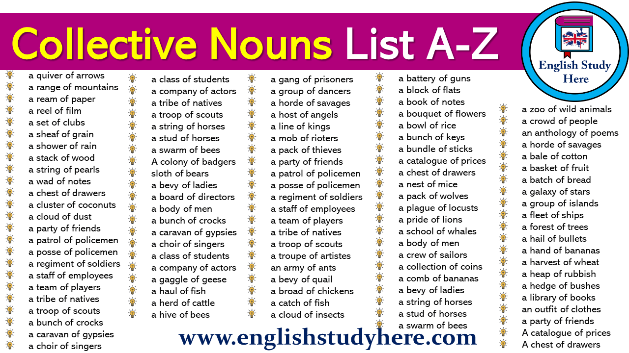 Collective Nouns List A-Z
