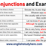 Conjunctions and Examples