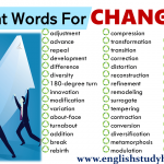 Different Words For CHANGE in English