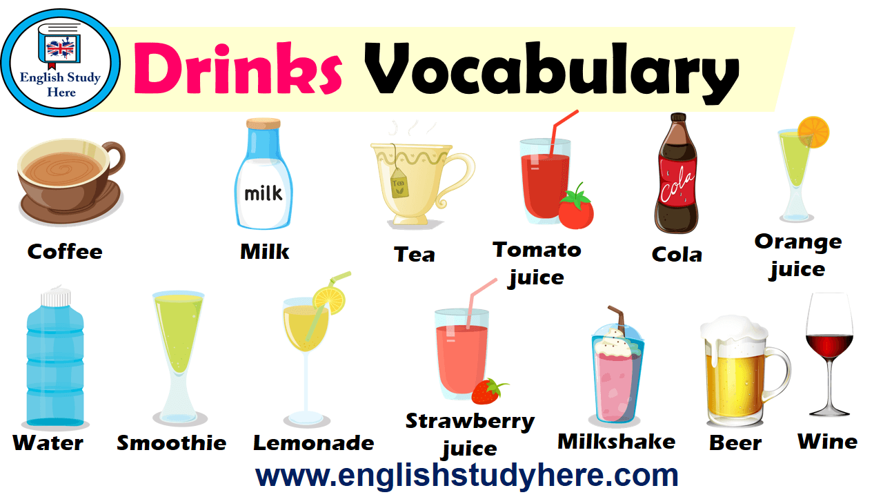 Drinks Vocabulary