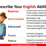 How to Describe Your English Ability