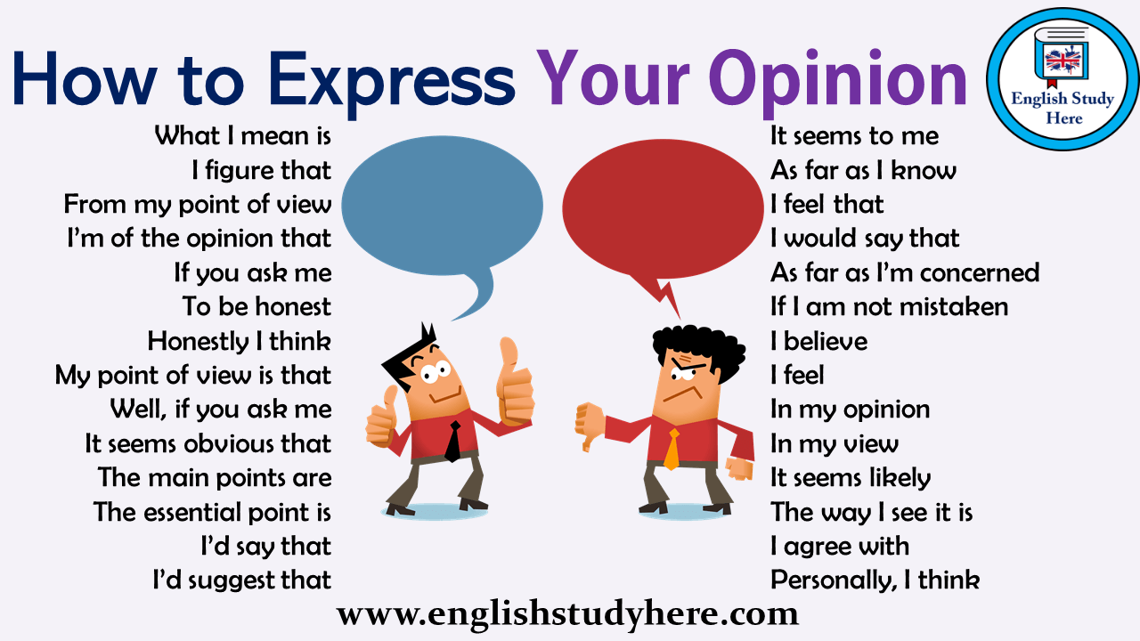 How to Express Your Opinion