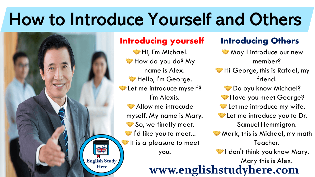 How to Introduce Yourself and Others in English