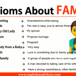 Idioms About FAMILY