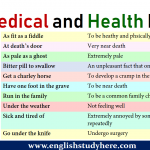 Medical and Health Idioms