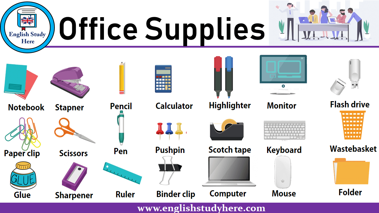 Office Supplies Names