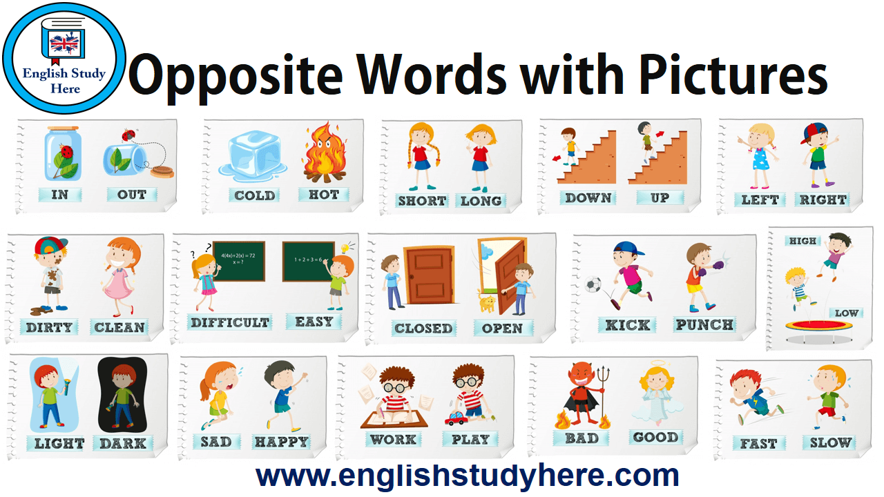 Opposite Words with Pictures