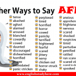 Other Ways to Say AFRAID