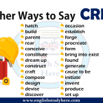 Other Ways to Say CREATE