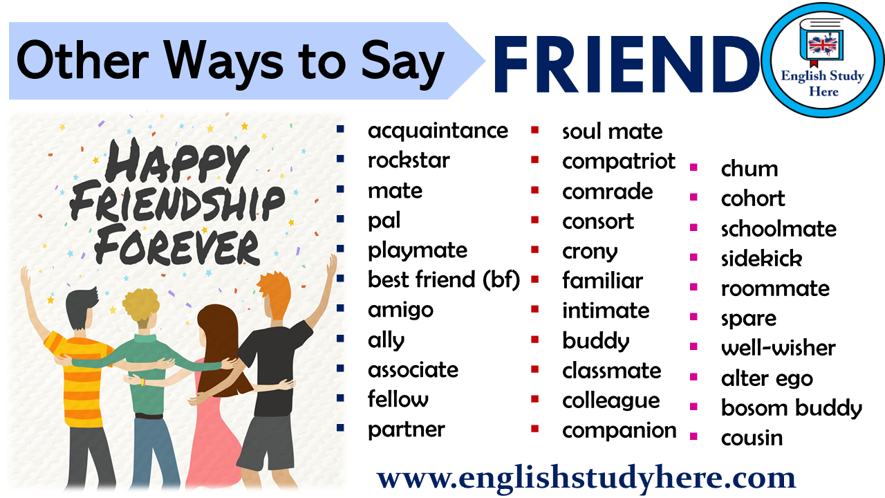 Other Ways to Say FRIEND in English