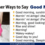 Other Ways to Say Good Morning