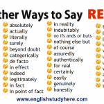 Other Ways to Say REALLY in English