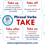 Phrasal Verbs – TAKE in English