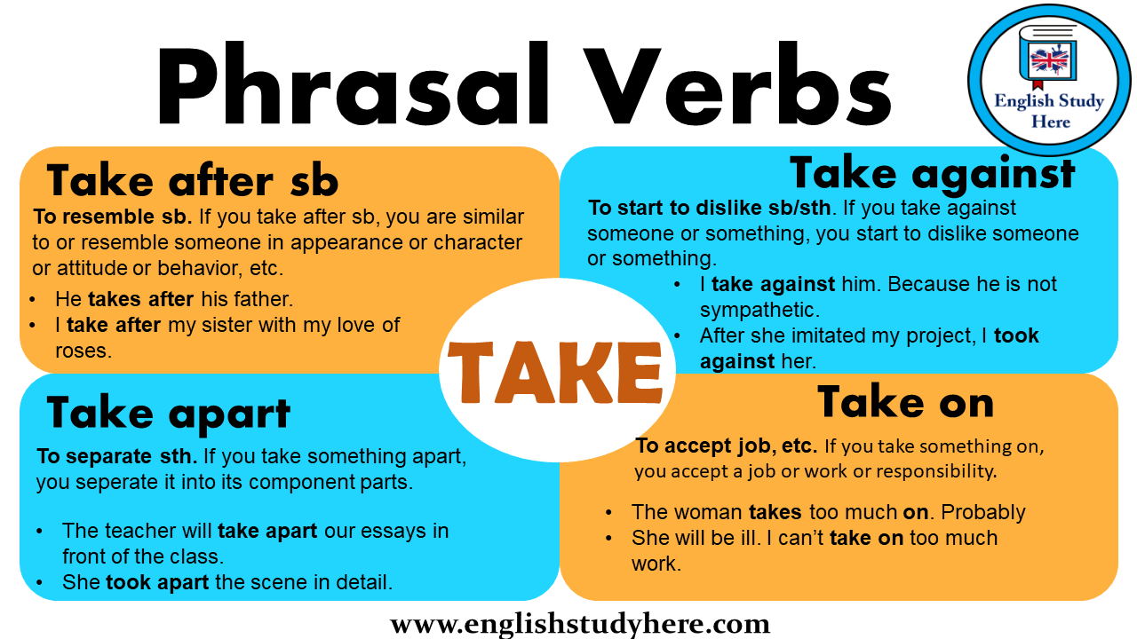 Phrasal Verbs Take