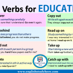 Phrasal Verbs for EDUCATION