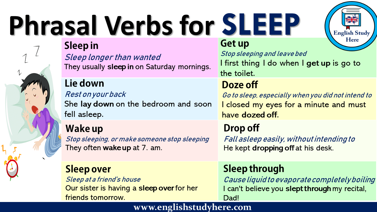 Phrasal Verbs for SLEEP