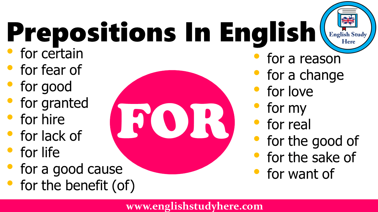 Prepositions In English - FOR