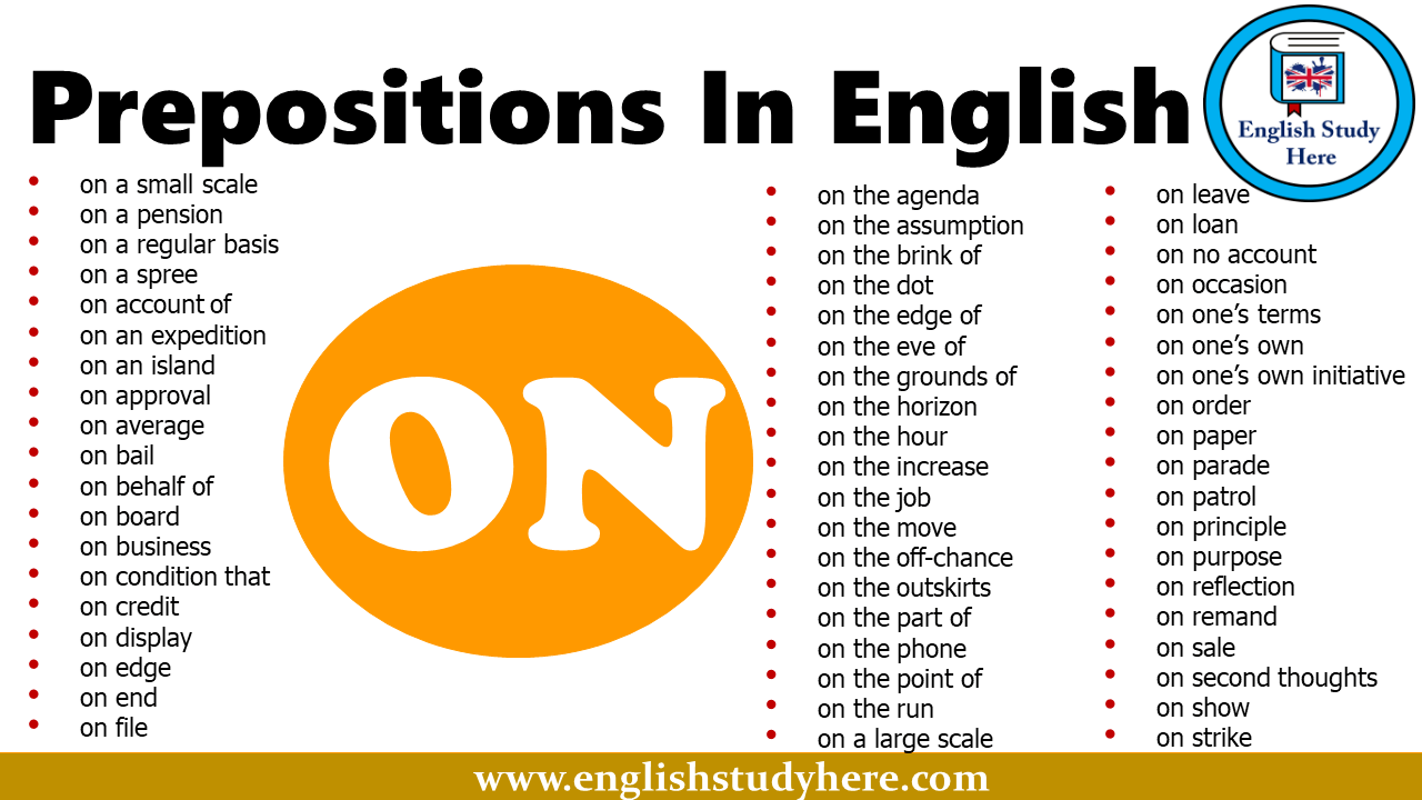 Prepositions In English - ON