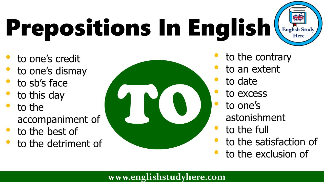 Prepositions In English - TO
