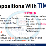 Prepositions With TIME - By, Between, Past