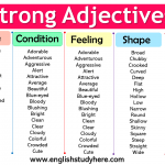 Strong Adjectives List in English