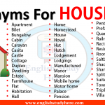 Synonyms For HOUSE