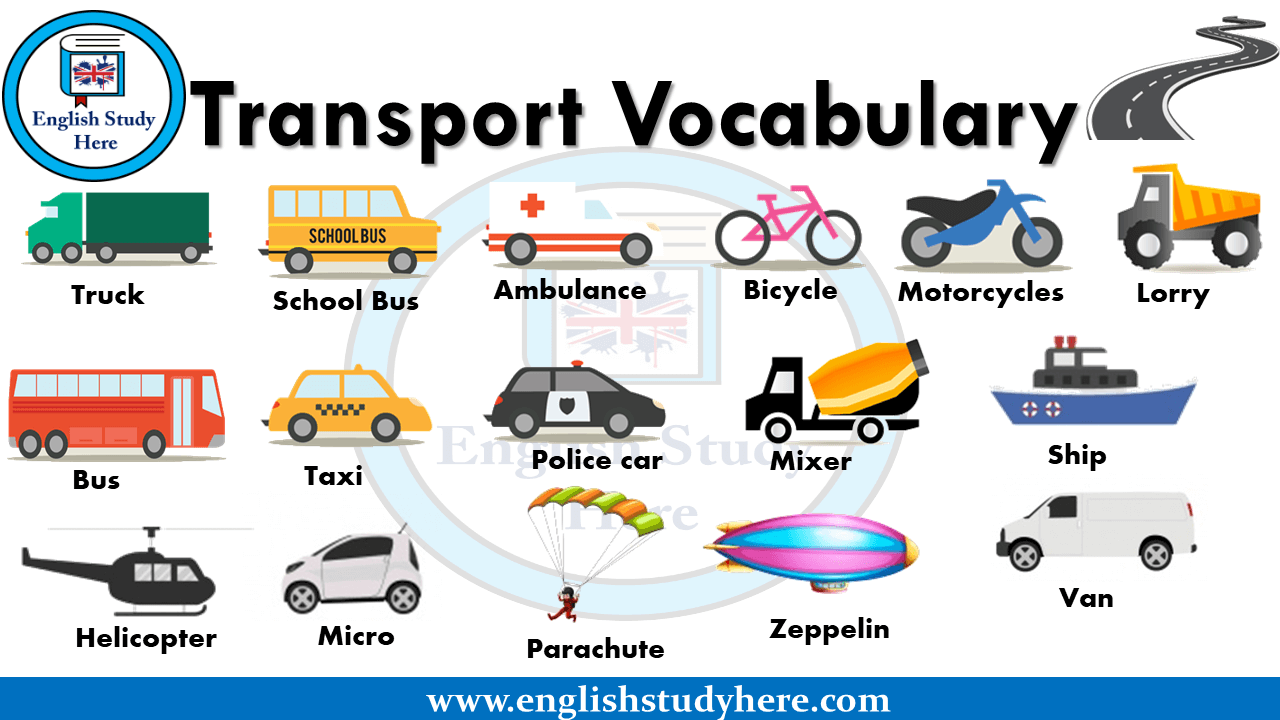 Transport Vocabulary in English - Transportation Names