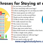 Useful English Phrases for Staying at a Hotel