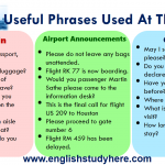 Useful Phrases Used At The Airport