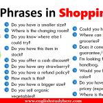 Useful Phrases in Shopping