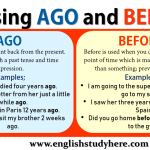 Using AGO and BEFORE in English