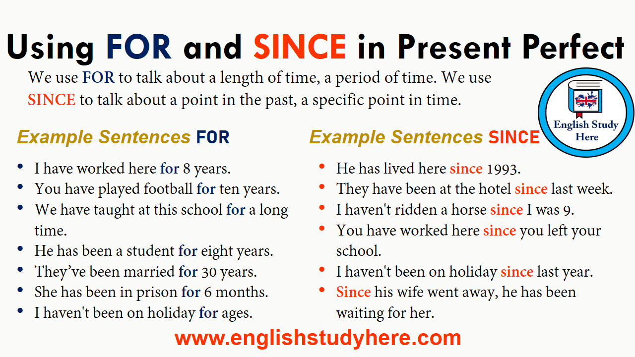 Using FOR and SINCE in Present Perfect