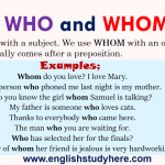Using WHO and WHOM in English