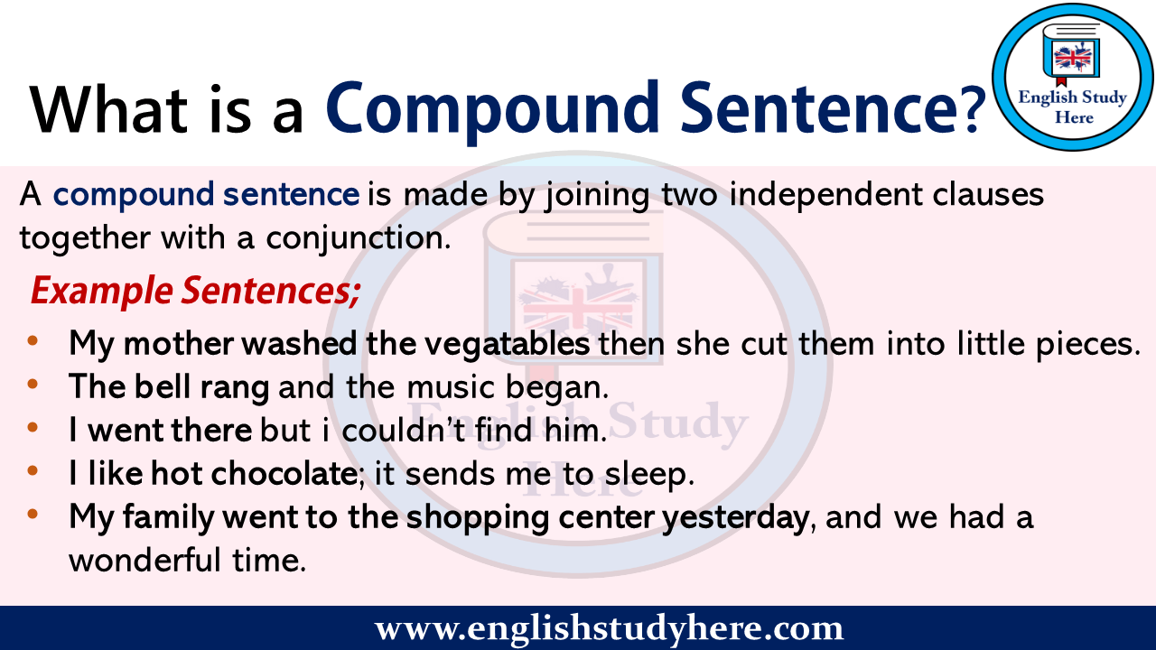 What is a Compound Sentence? - English Study Here