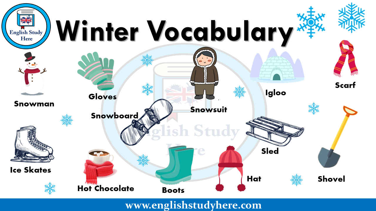 Winter Vocabulary in English