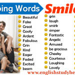 describing words for smile in english