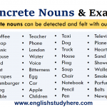 Concrete Nouns and Examples