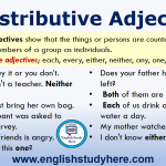 Distributive Adjectives in English