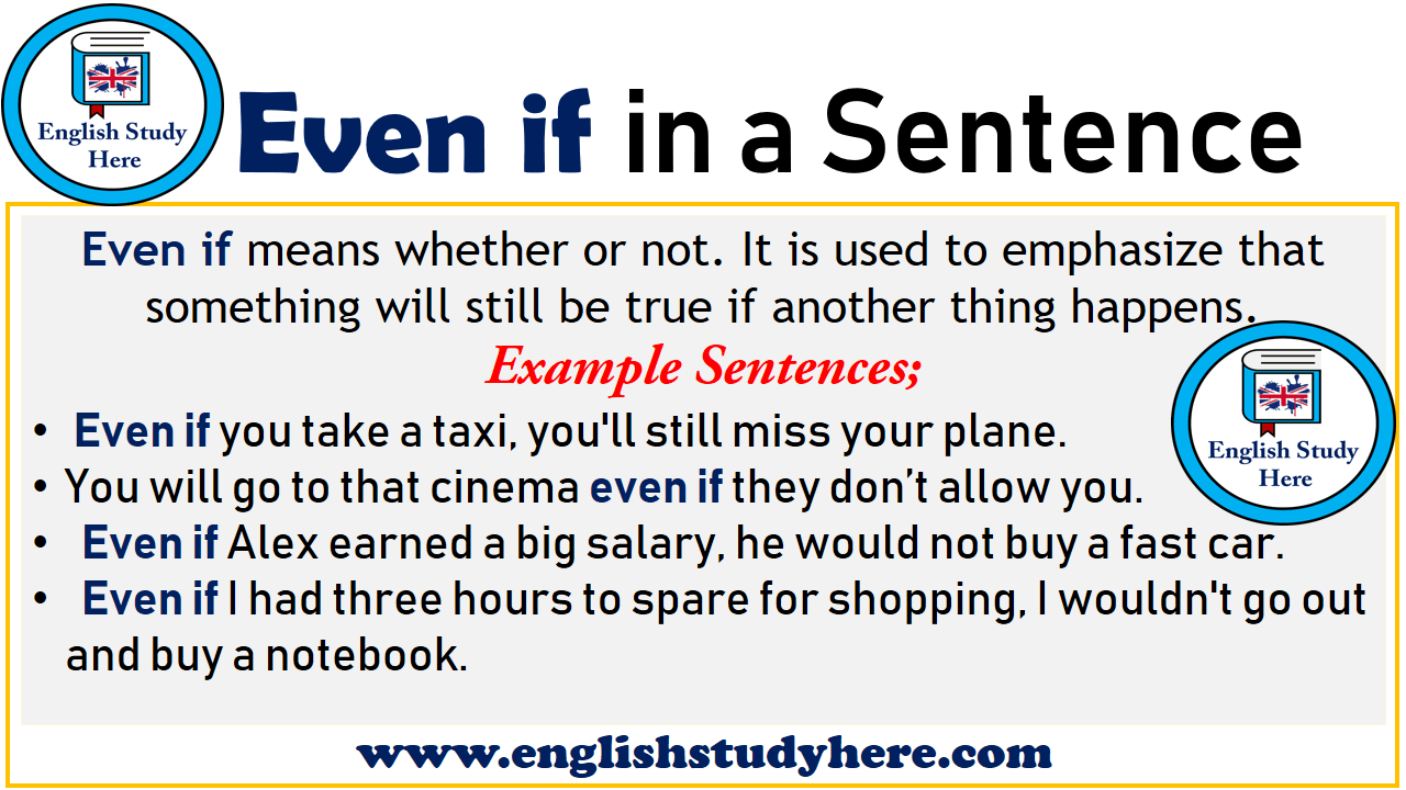 Even if in a Sentence