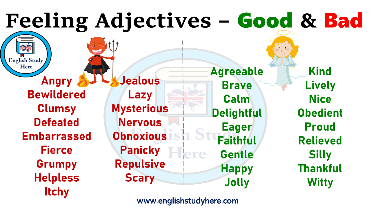Feeling Adjectives Good and Bad